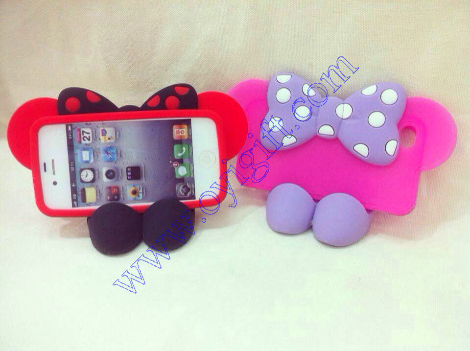3D Butterfly RIbbon silicone phone case covers