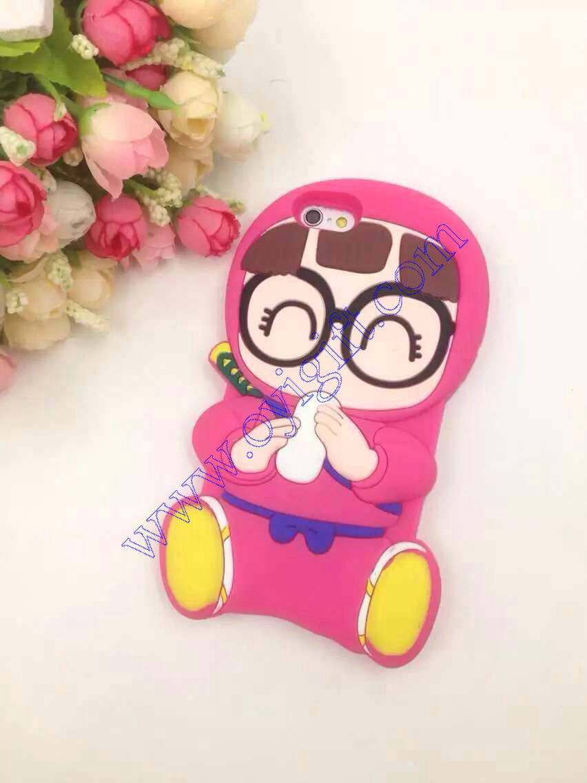Cartoon Glasses Girls Silicone phone cover cases