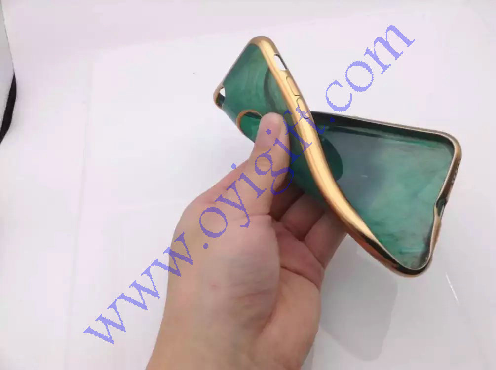 Green Bowlder TPU plating Soft Phone case covers