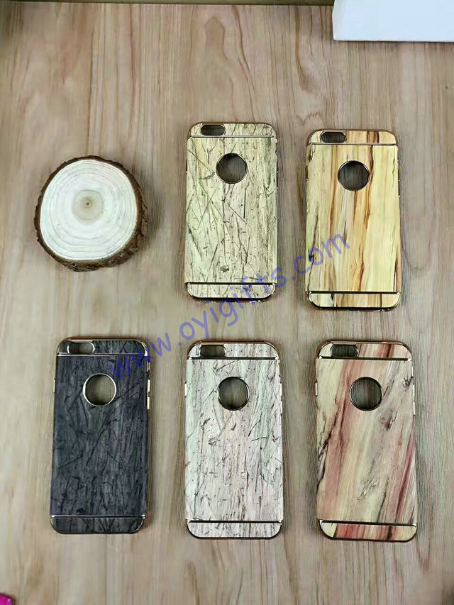 Fashion wood grain customized Phone cases covers