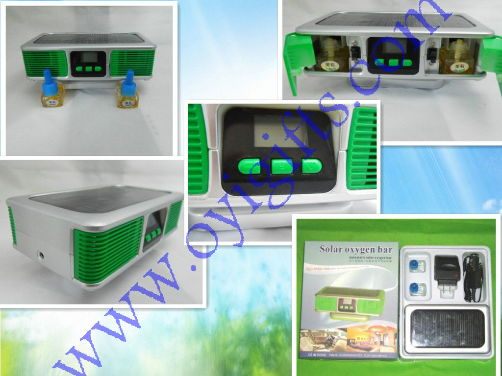 Auto Solar Air Purifier JO-689 With Dual Aroma Diffuser
