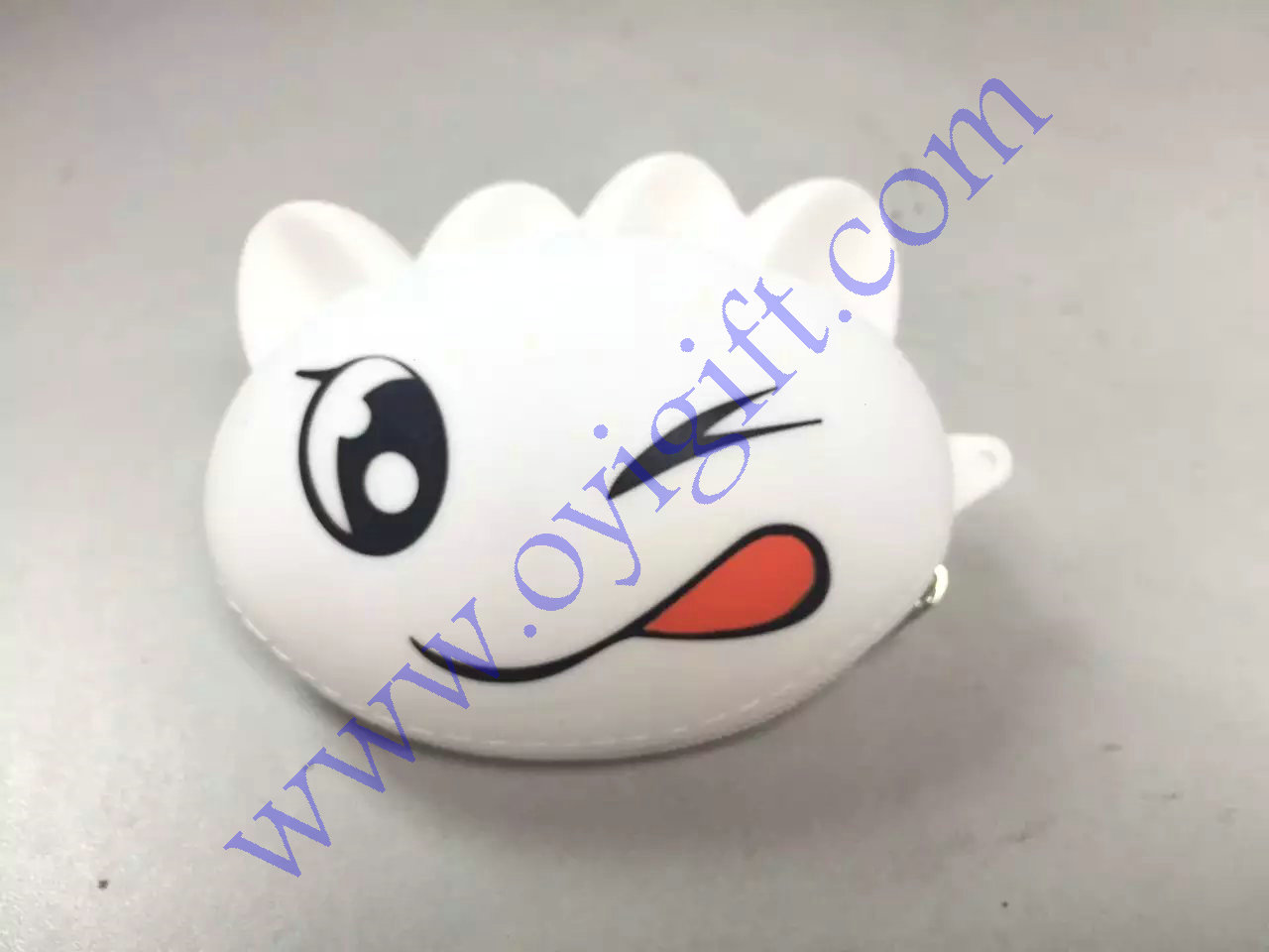 mischievous wallet Silicone coin purse with zipper