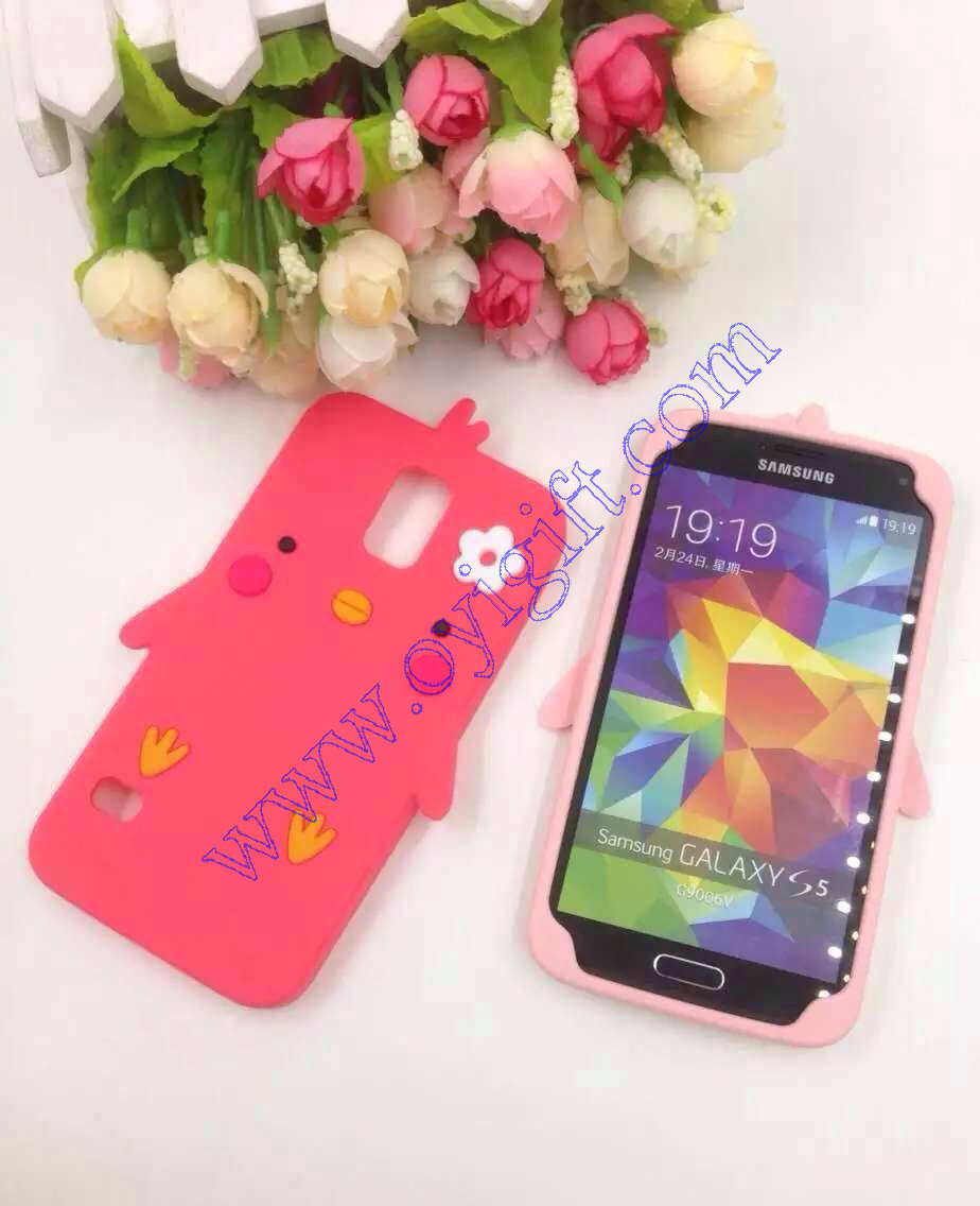 Cartoon Chicken Silicone Birds Gel phone cases