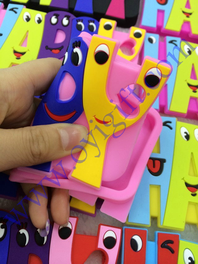 Cartoon happy letter Silicone Phone cover