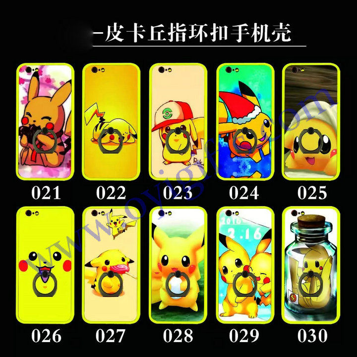 Ring holder Cartoon print phone cases cover