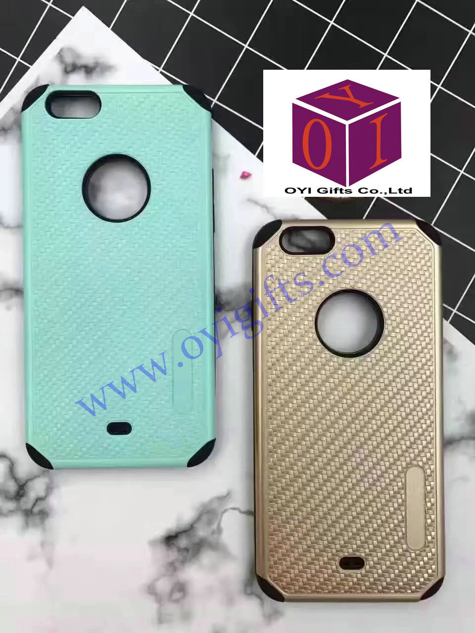 TPU+PC 2 in 1 design Weave Cell Phone case covers