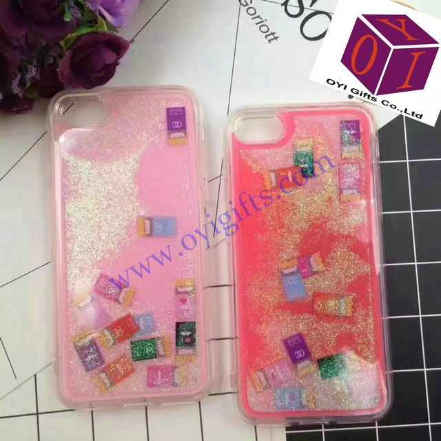 Liquid chips design Quicksand TPU phone covers