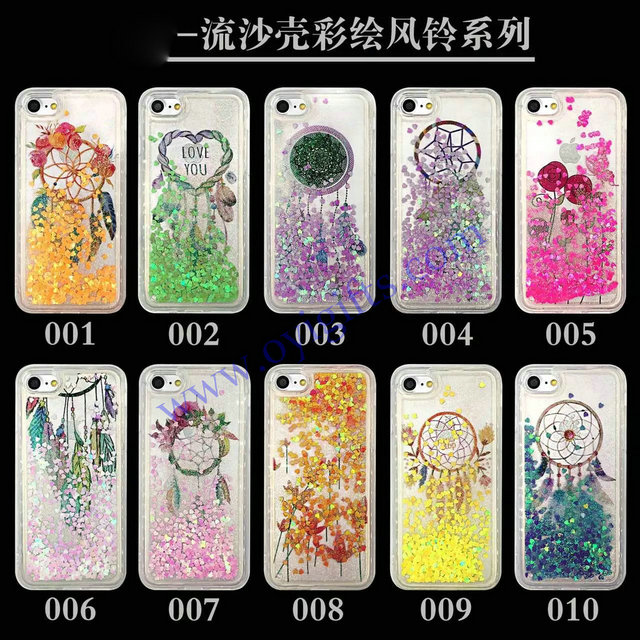 Quicksand styles TPU liquid phone covers cases
