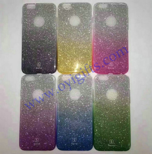 Fashion simple Gradient Glitter Phone covers cases