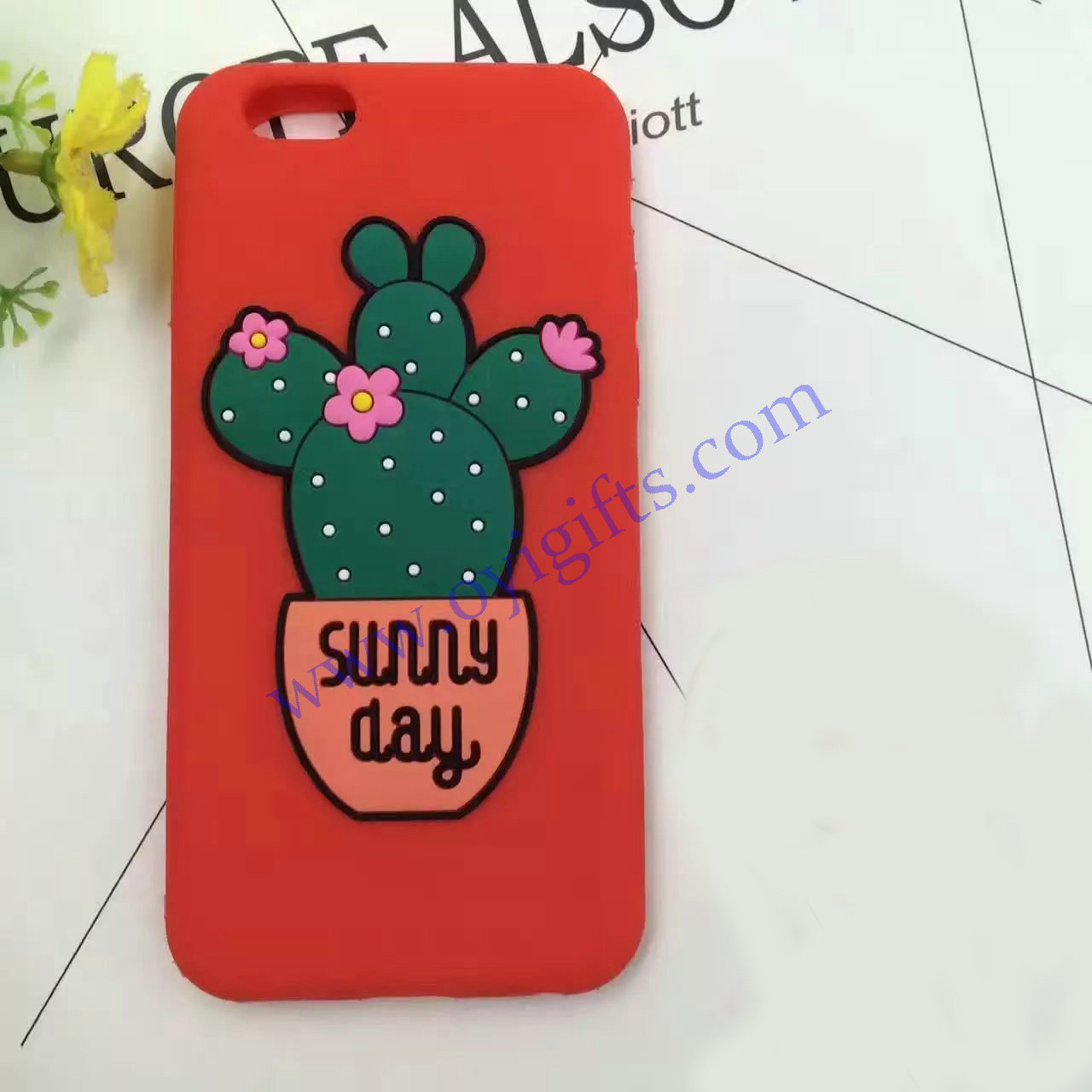 Cute Cacti Silicon phone covers case soft skin